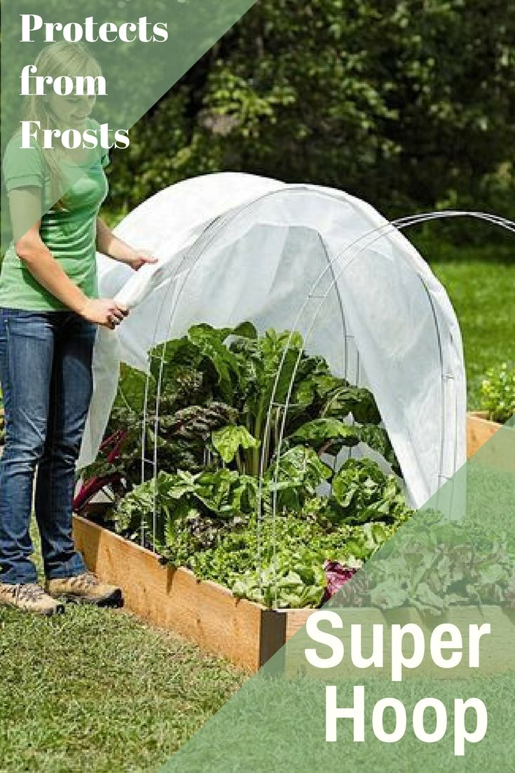 These hoops conveniently support any type of garden row cover & protects plants from frost, animals, insects &  intense elements. Super hoops comes in 2 sizes: for young transplants & lower-growing crops & high rise hoops for taller crops. I can get an early start on my garden, then use these to protect the plants from any late-season frosts. #ad #garden #gardening #hoops #gardenhoops