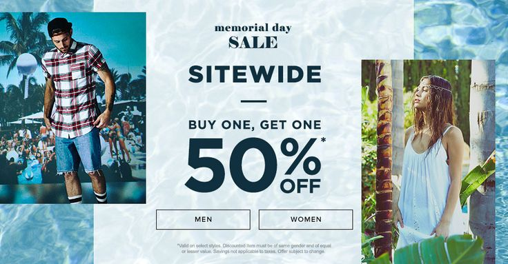 memorial day sales pacsun