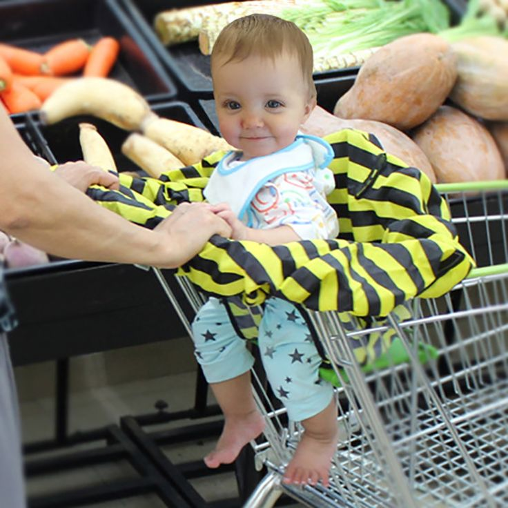 High Quanlity Baby Shopping Cart Cover Anti Dirty Baby Safety Seats Striped Nylon Baby Chair -- MKA110 PT49