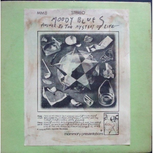 1971 The Moody Blues - Answer To The Mystery Of Life (unofficial release) [Mammary Presentations MM8] cover artwork inspiration: M.C. Escher - Crystal (1947) #albumcover