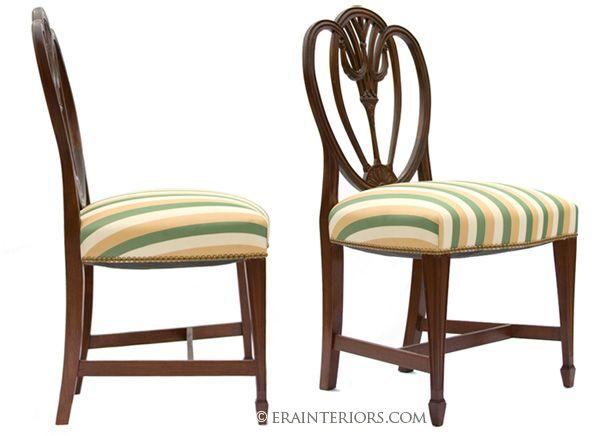 Hepplewhite heart shaped dining chairs