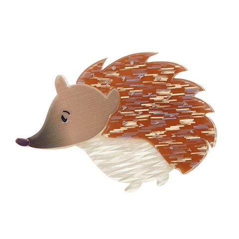 "Erstwilder Limited Edition Lady Edith Brooch. ""Despite being laid-back this little lady has rather expensive taste and loves chillin' at her hedgehog hotel."""