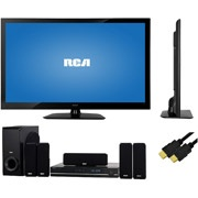 """RCA 46"""" LED 1080p 120Hz, LED46A55R120Q, RCA Home Theater System, 6ft HDMI Cable, TV Bundle"""