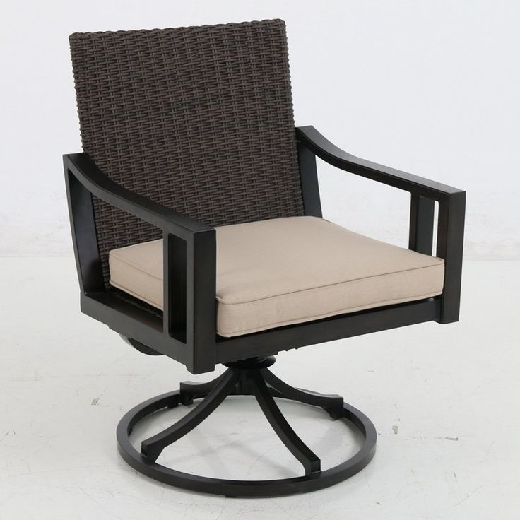 Royal Garden Pendant Wicker Outdoor Swivel Dining Chair - Set of 2 Stone - A135200-02-SCTY