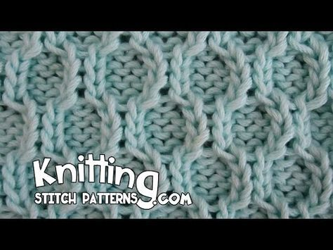 Knit with eliZZZa * Knitting Stitch * Honeycomb Stitch * Honeycomb Cable - YouTube