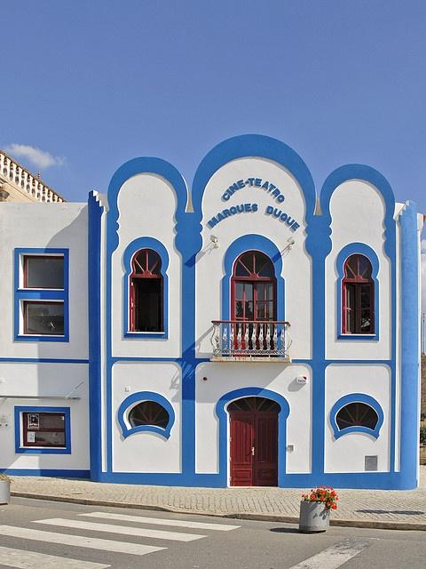 Oriental Deco cinema in Mértola (Portugal) by dalbera, via Flickr