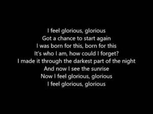 Glorious – Macklemore feat. Skylar Grey LYRICS This could be my new Monday song!