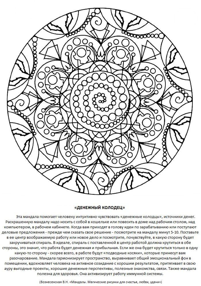 ДЕНЕЖНЫЙ КОЛОДЕЦ | Мандала, Рисунок узора мандала ...