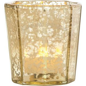 Gold mercury glass candle holder wholesale flat edge for Flat candle holders