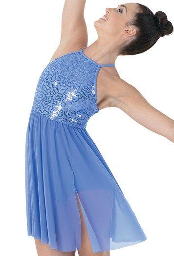 Sequin Lace Empire Waist Dress