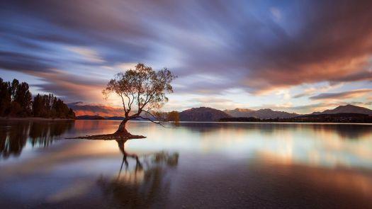 Napfelkelte, Wanaka-tó, Új-Zéland (112 pieces) (jigidi puzzle I did)