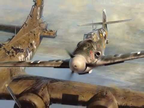 Honour in the skies: The day a chivalrous German flying ace saluted a crippled US bomber and let them fly to safety instead of shooting them down  Bf 109 pilot Franz Stigler and B-17 pilot Charlie Brown's first meeting.