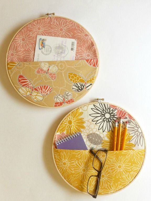 DIY: fabric wall pocket organizer. This would be cute for a craft room.