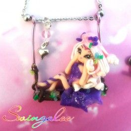 Swingaloos are romantic fairies on a swing, dangling on the chain of the necklace. These jewels are completely handmade, 100% Made in Italy with high quality materials. Such a terrific gift idea!  Find it on www.Delicute.com