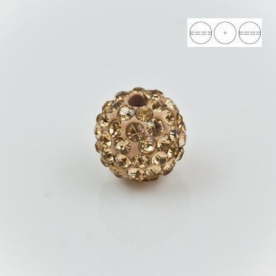 Discoball Bead 12mm Golden Shadow  Dimensions: 12mm Stones which were used in a ball are from Preciosa Company  1 package = 1 piece