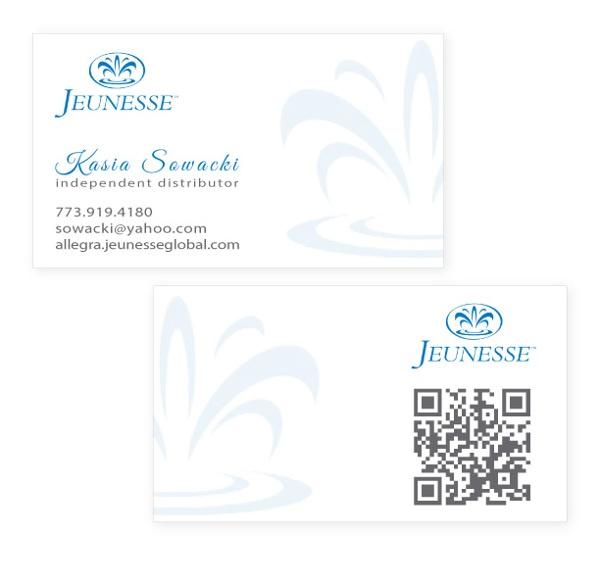 Business Cards - Jeunesse Global by Kasia Kleszko, via Behance