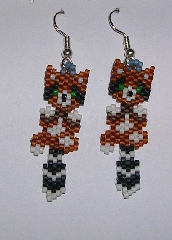 Raccoon Earrings by shamlynn on Etsy, $20.00