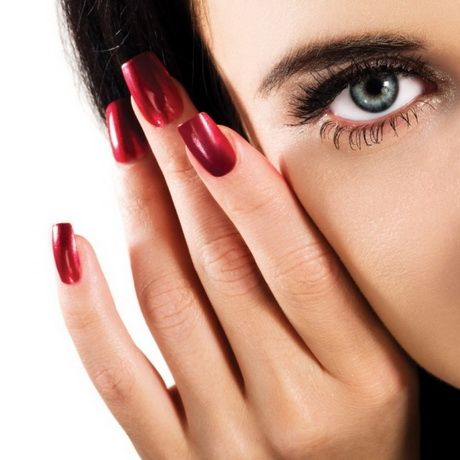 Fingernägel rot schwarz | Nägel design rot, Rot schwarz, Rot