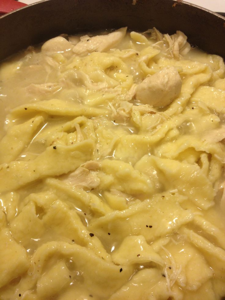 Delicious Chicken & Noodles Recipe - WriterMom's Blog