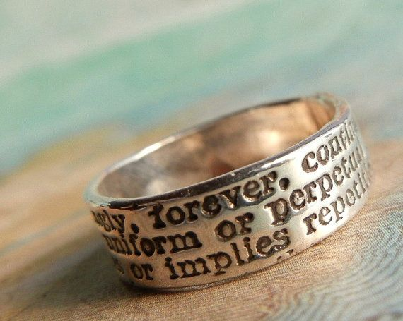 oh my gosh, this is the cutest thing ever! And being the huge Harry Potter fan I am, I will 'Always' love this hehe   http://www.etsy.com/listing/67401731/always-definition-commitment-ring-in?ref==