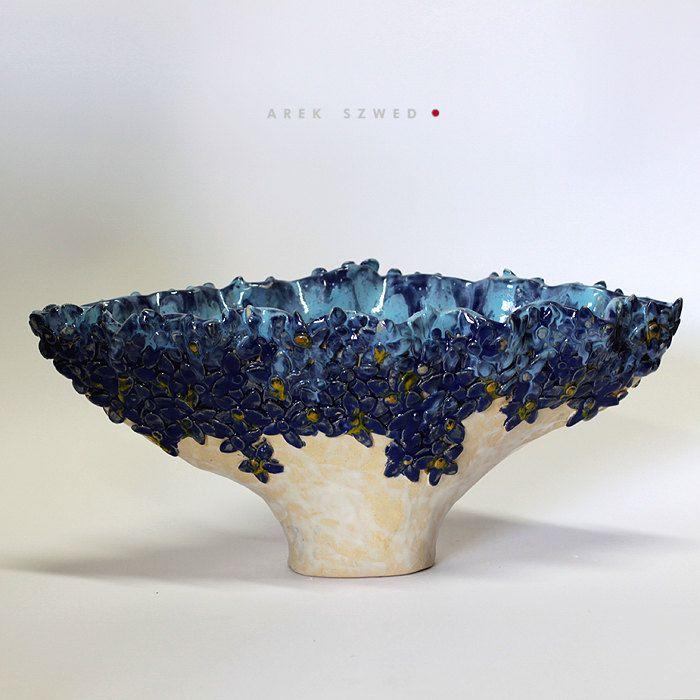 Blue / Ceramic dish / unicue  / Ceramic Arek Szwed