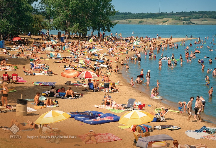 Regina Beach Recreation Site beach volley ball, kite boarders, swimming, enjoy an afternoon picnic #Saskatchewan