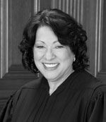 Read Supreme Court Associate Justice Sonia Sotomayor's bio by clicking on her picture.
