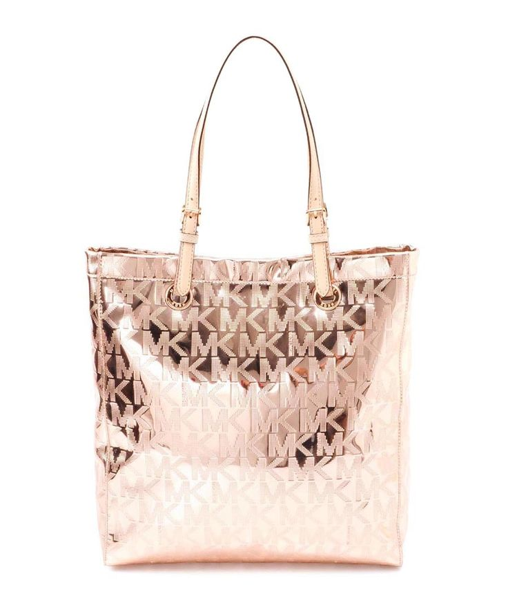 Signature rose gold metallic tote bag by Michael Kors on secretsales.com  This is lovely!