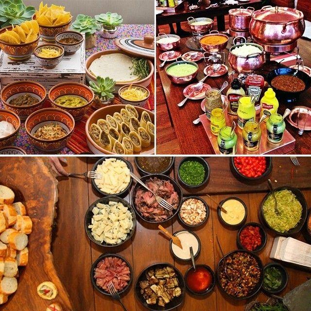 Hoje no site fizemos uma seleção de ESTAÇÕES GASTRONÔMICAS que bombam em casamentos. Vem ver: www.constancezahn.com!🖥️😋(Na foto, nachos e burritos da @gheebanqueteria, hot dog do @arrozdefestabuffet e tapas da @nekagastronomia) #buffet #casamento #comidamexicana #tapas #hotdog