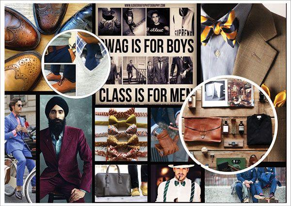 Menswear Consumer Profile Mood Board on SCAD Portfolios