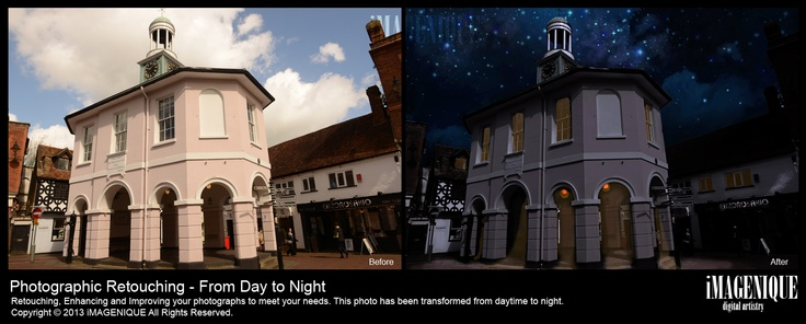 iMAGENIQUE Photographic Retouching; From Day to NIght