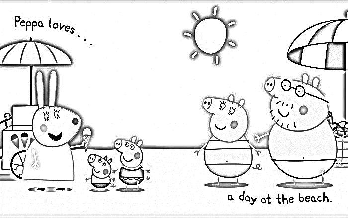 Dibujo Peppa Pig Para Colorear Y Sus Amigos Peppa Pig Colouring
