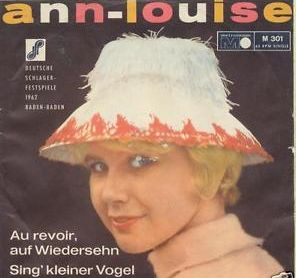 """Ann-Louise Hanson - """"Sing kleiner Vogel"""", german preselection for the Eurovision Song Contest 1962, Place 8"""