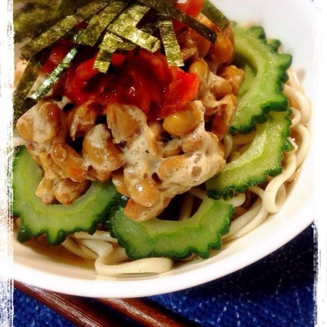 私の晩御飯はこれ - 44件のもぐもぐ - キムチ納豆ゴーヤそば by machiruda11