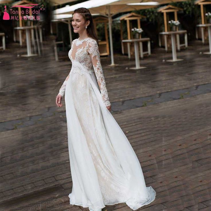 Find More Wedding Dresses Information About A Line Beach Dress Long