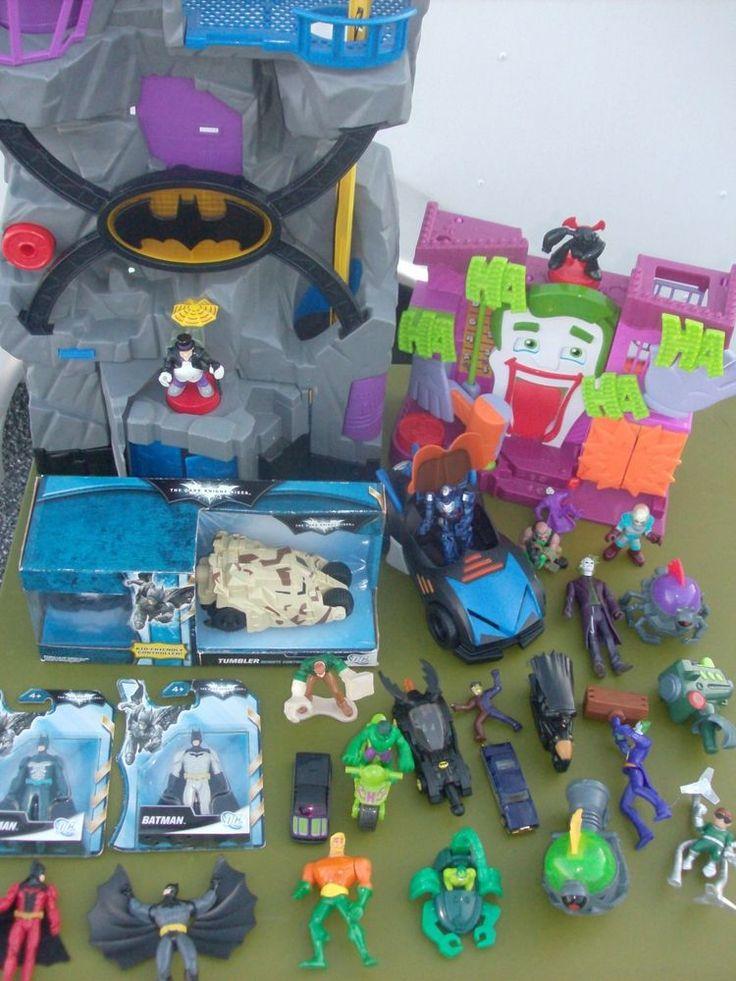 Imaginext DC Super heroes big lot Batman DC Comic Marvel 19 figures Joker Freeze #FisherPrice