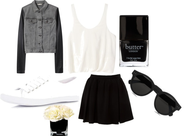 """""""Black and White"""" by comfys ❤ liked on Polyvore"""
