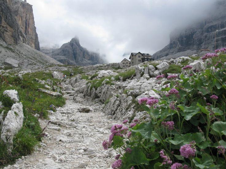 Rifugio #Tuckett oggi immerso tra le nuvole! Siamo sulle #Dolomiti di #Brenta a 2275 mt di altitudine!   Foto di Ezia Ferrari