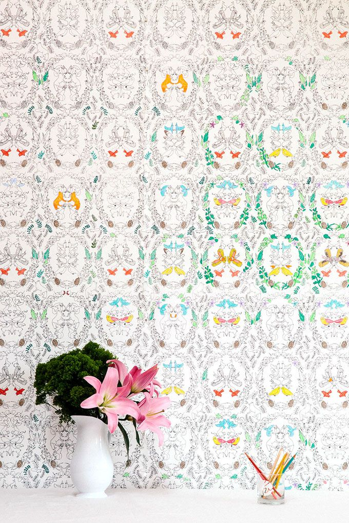Wallpaper You Can Color 126 best all over my walls images on pinterest | fabric wallpaper