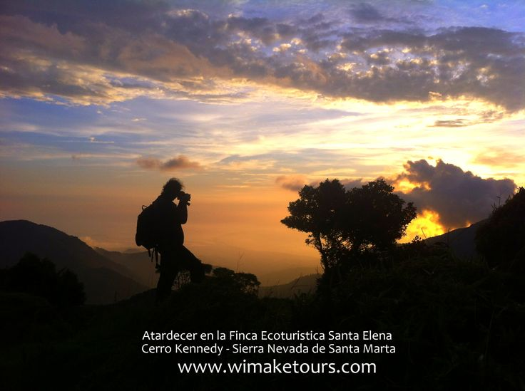 ´Finca Ecoturistica Santa Elena ubicada en Minca, Santa Marta. a una altitud de 2200 metros sobre nivel del Mar. sobre la montaña el Cerro Kennedy en la Sierra Nevada de Santa Marta.