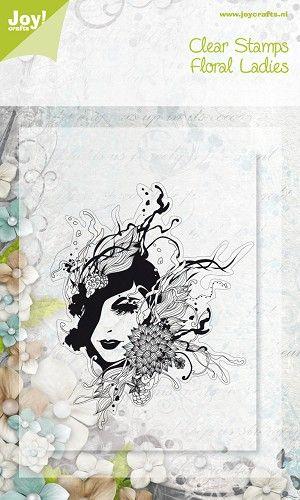 Noor! Design Floral Ladies Clearstempel 6410/0076 1 st.