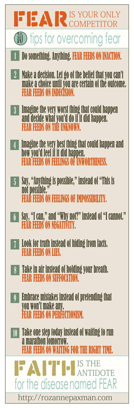 """""""God has not given us a spirit of fear.."""" 2Tim. 1:7  10 Tips to Overcoming Fear"""