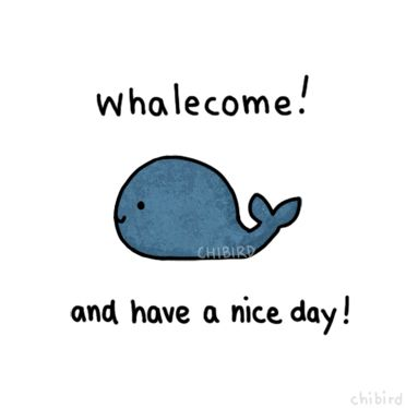A welcome whale, transparent and free to use if you keep the credit (a link back is always appreciated but not necessary)~ ^u^