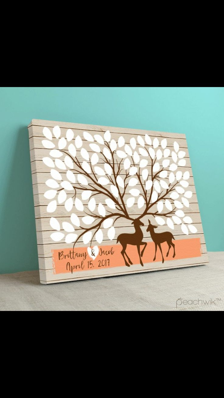 Deer antler wedding sign