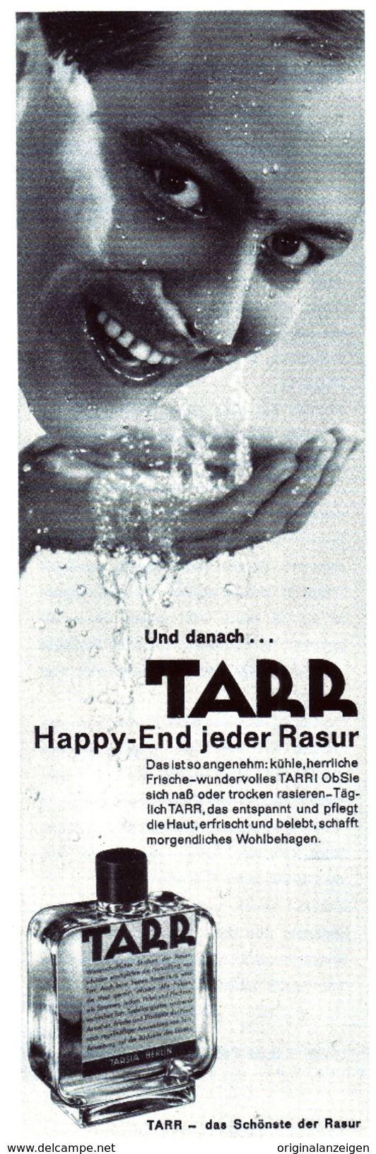Werbung - Original-Werbung/Anzeige 1961 - TARR RASIERWASSER - ca. 65 x 220 mm