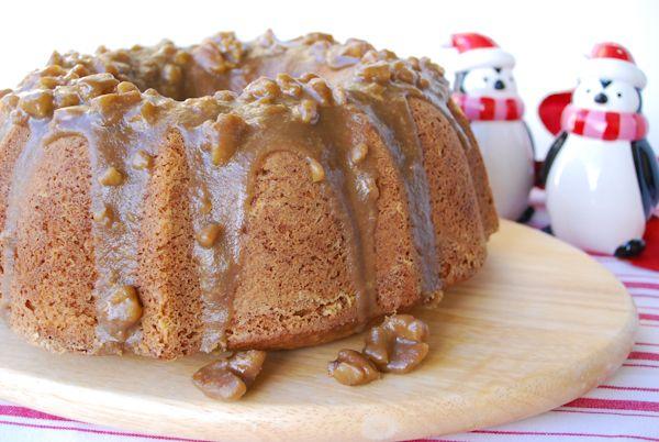 Texas Pecan Cake With Butter Pecan Glaze Bundtcake