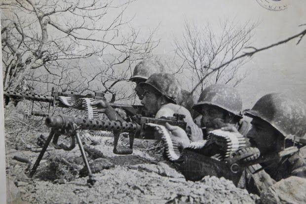 Brasil na Segunda Guerra Mundial  - Ponto conquistado nos Alpeninos defendido pela Força Expedicionária Brasileira com metralhadoras (Arquivo da Associação dos Ex-Combatentes do Brasil Secção de São Paulo).   http://www.historiailustrada.com.br/2014/04/fotos-raras-brasil-na-segunda-guerra.html#.VW9y4c9Viko