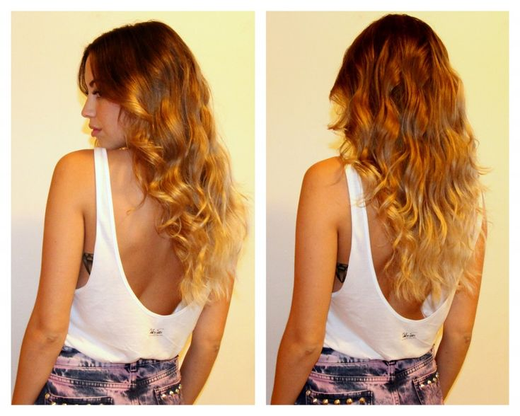 Balayage Ombre Hair Brown To Blonde With Reddish Tones
