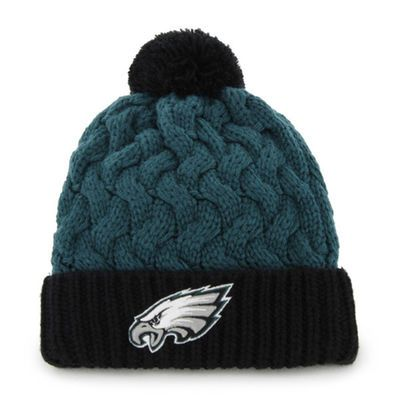 '47 Brand Philadelphia Eagles Ladies Matterhorn Cuffed Beanie - Midnight Green/Black