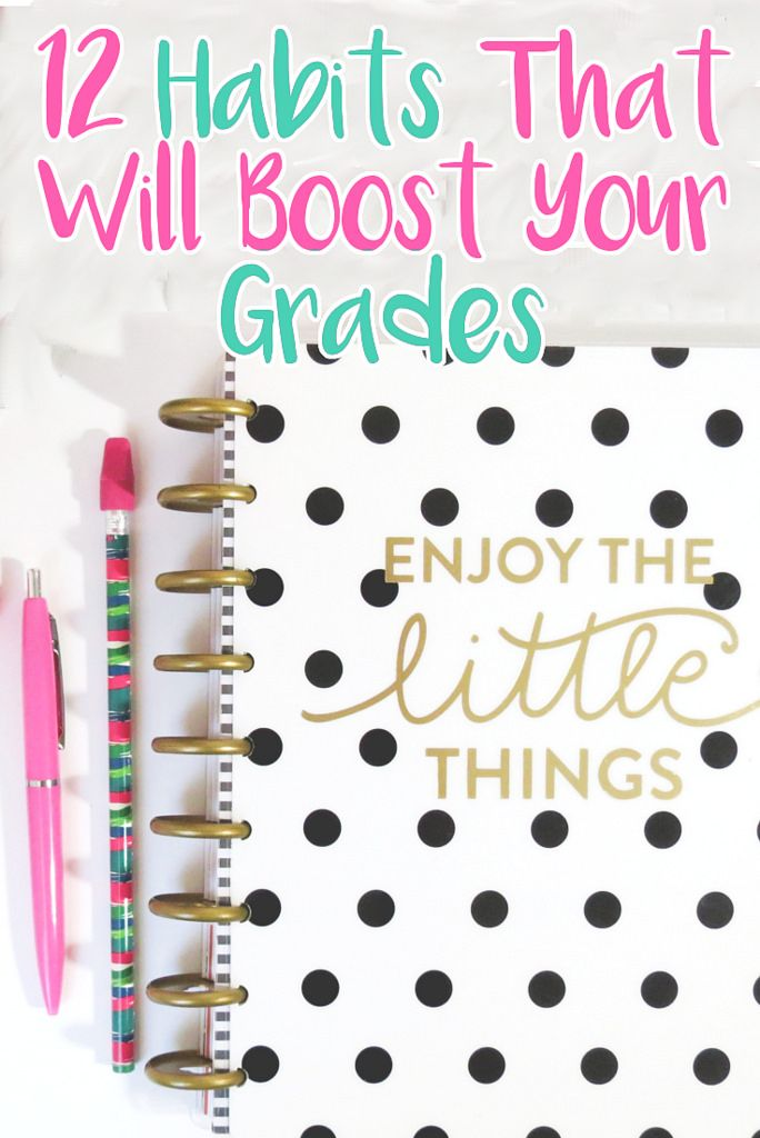 12 Habits That'll Improve Your Grades - Getting Good Grades in College // ew & pt